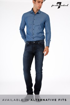 7 For All Mankind® Dark Blue Skinny Fit Jean