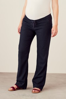 Maternity Linen Rich Blend Trousers