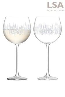Set of 2 LSA International Fir Balloon Glasses