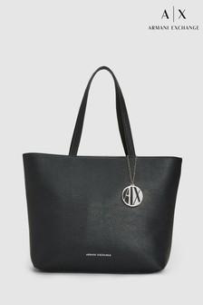Armani Exchange Black Shopper Bag