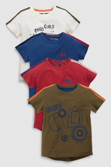 Digger T-Shirts Four Pack (3mths-7yrs)