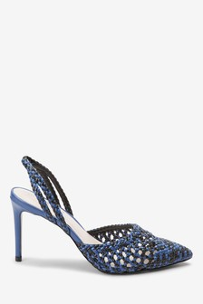 Weave Point Slingbacks