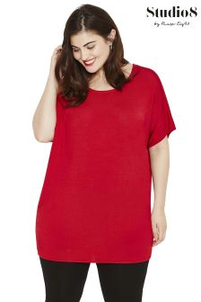 Studio 8 Red Kate Knit Tunic
