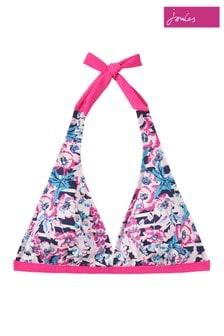 Joules Pink Coraline Halterneck Bikini Top