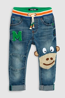 Rib Waist Pull On Monkey Jeans (3mths-7yrs)