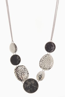 Mixed Stone Statement Short Necklace