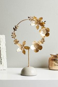 Gold Metal Flower Sculpture