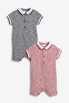 Poloshirt Rompers Two Pack (0mths-2yrs)