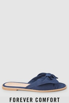 Forever Comfort Bow Mule Sandals