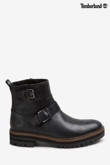 Timberland® Black London Square Biker Boots