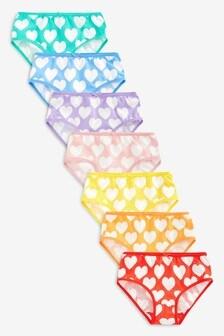 Heart Briefs Seven Pack (1.5-12yrs)
