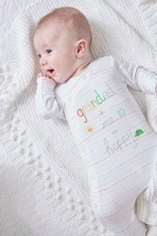 Grandad Slogan Embroidered Sleepsuit (0-18mths)
