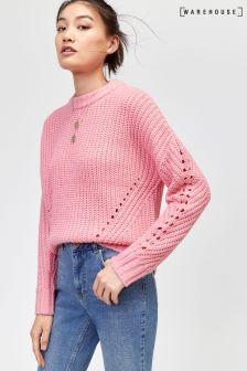 Warehouse Pink Fashion Rib Jumper