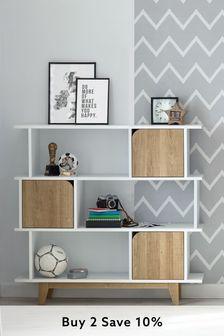 Parker White Display Storage Shelves