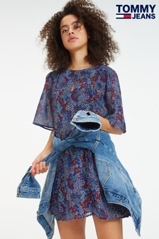 Tommy Jeans Floral Festival Pleat Dress