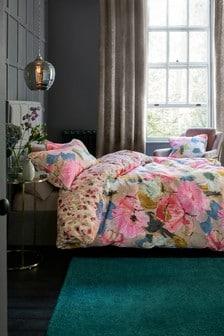 Edinburgh Weavers Nikita Floral Duvet Cover and Pillowcase Set