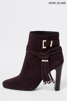 River Island Side Tie High Heel Boot