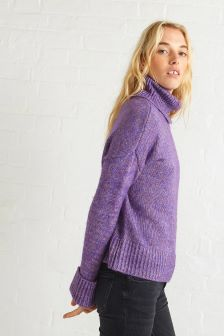 Oliver Bonas Purple Chunky Rolly Polly Jumper