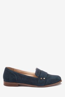Leather Stud Loafers
