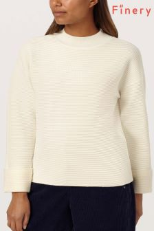 Finery London Cream Thistle Jumper