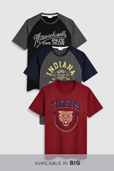Colour Graphic T-Shirts Three Pack