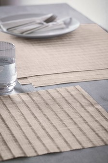 Set of 4 Textured Plastic Placemats