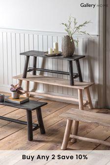 Alberta Rustic Grey Bench 145mm By Hudson Living