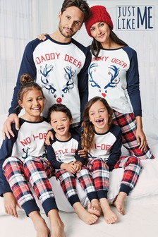 Womens Matching Family Reindeer Pyjamas