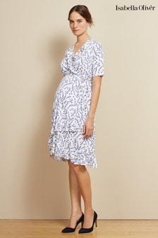 Isabella Oliver White Lullah Maternity Dress