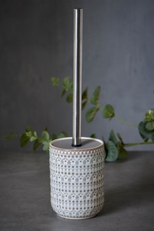 Embossed Floral Toilet Brush
