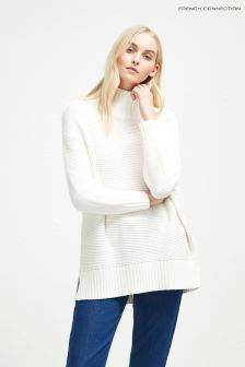 French Connection White Mozart Jumper