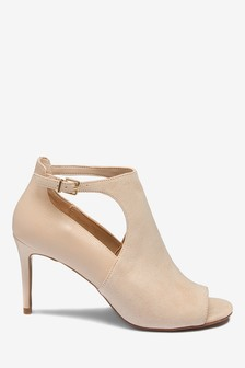 Cut-Out Peep Toe Shoe Boots