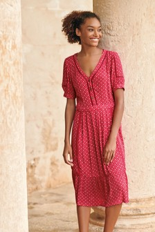 Lace Trim Tea Dress