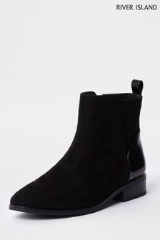 River Island Black Ankle Boot