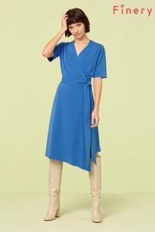 Finery London Cobalt Hettie Wrap Dress