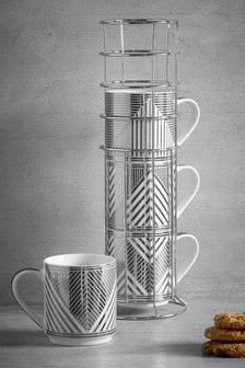 Set of 4 Beaumont Stacking Mugs