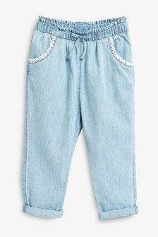 Chambray Pull-on Trousers (3mths-7yrs)