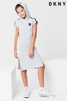 DKNY Grey Hoody Dress