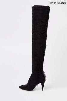 River Island Black Poppa Boot