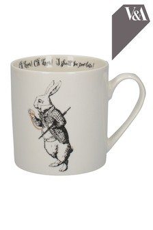 V&A Alice In Wonderland White Rabbit Mug