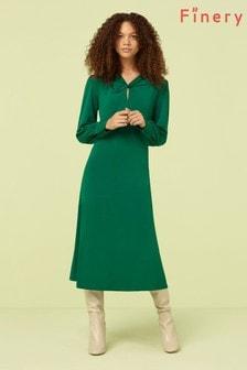 Finery London Bottle Green Aveling Dress
