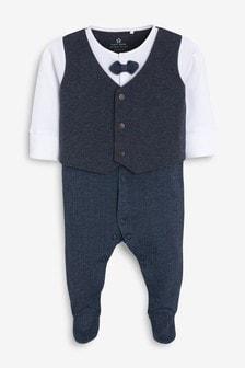 Smart Bow Tie Sleepsuit (0mths-2yrs)