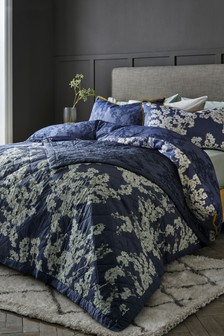 Blueberry Blossom Cotton Duvet Cover and Pillowcase Set
