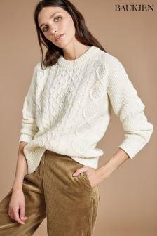 Baukjen Cream Camilla Cable Knit Jumper