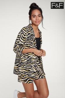 F&F Multi Zebra Print Jacket