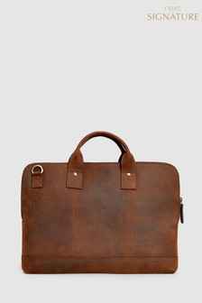 Signature Leather Document Holder Briefcase