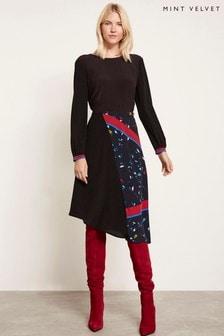 Mint Velvet Black Twist Back Dress