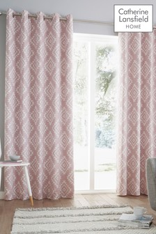 Catherine Lansfield Aztec Eyelet Curtains