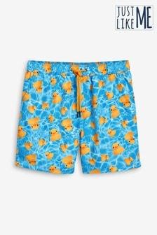Duck Print Swim Shorts