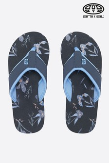 Animal Blue Swish All-Over Print Flip Flop